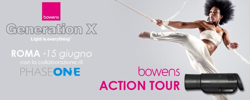 Bowens Action Tour Roma 15 giugno in collaborazione con Phase One